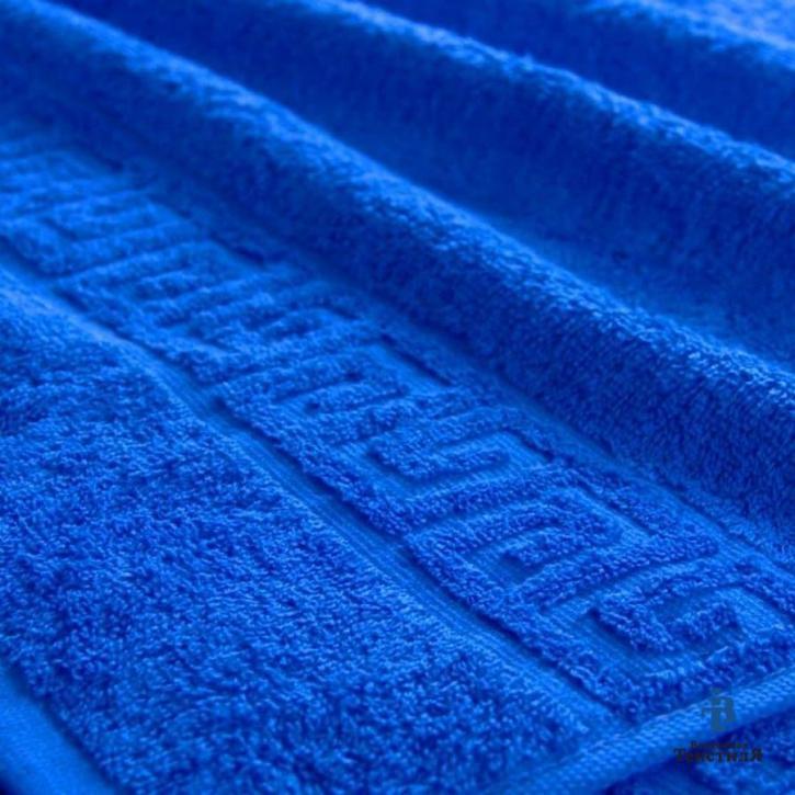 Полотенце махровое. Цвет синий