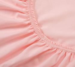 Простынь трикотажная на резинке. Розовый