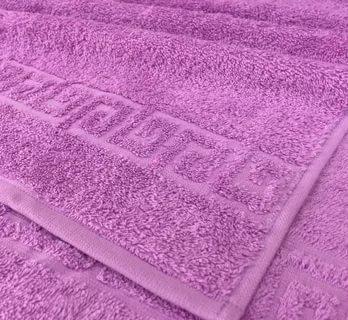 Полотенце махровое. Цвет сиреневый