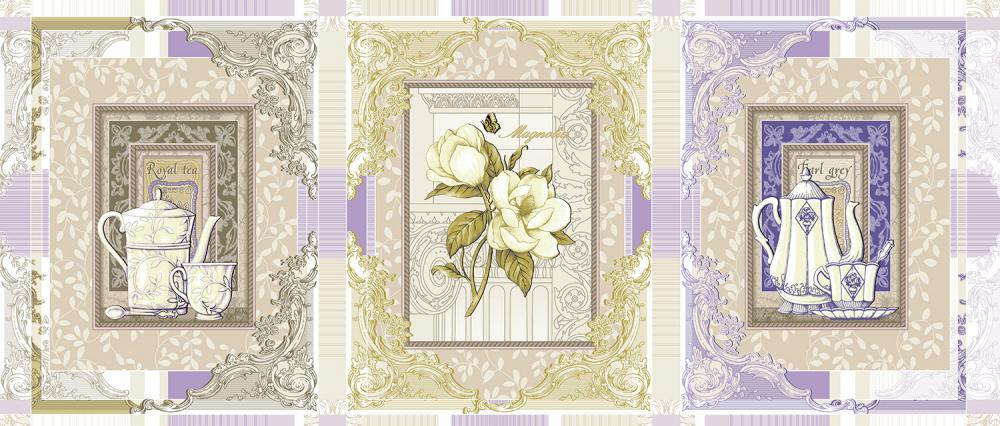 Набор вафельных полотенец из 3-х штук «Королевский Чай»