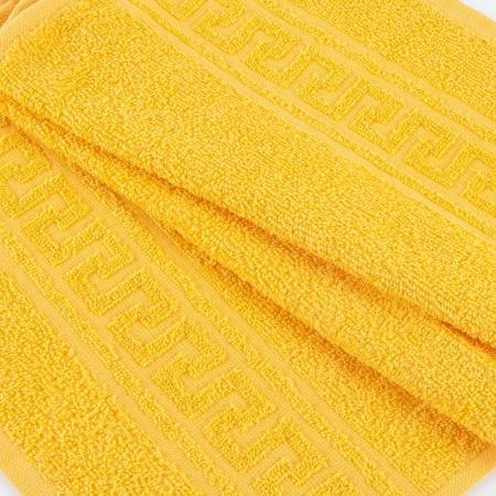 Полотенце махровое. Цвет ярко-жёлтый