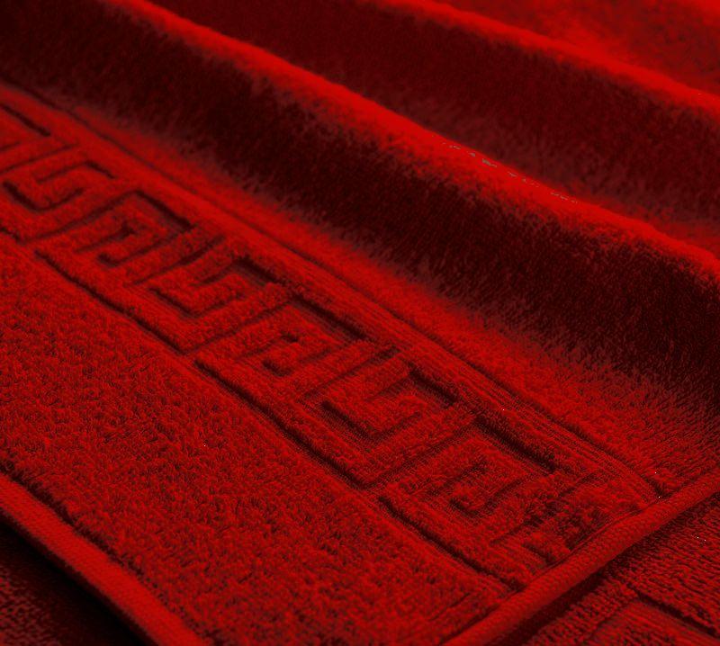 Полотенце махровое. Цвет тёмно-красный