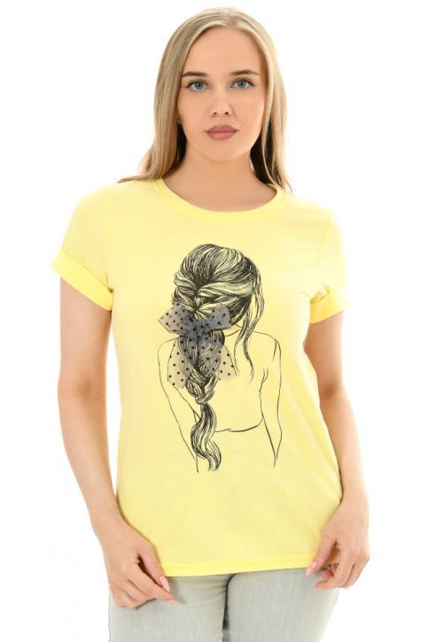 Футболка женская арт. МФут-279 цв. Желтый
