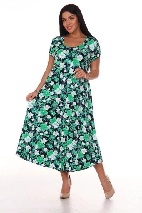 """Платье женское """"Платок""""  цв.Зеленый"""