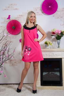 """Платье женское """"Маки""""(цвет розовый)"""
